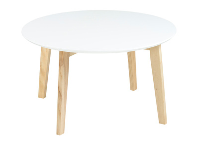 Matt White Modern Round Coffee Table SARA 80 cm