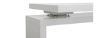 MAX Glossy White Modern Swivel Desk
