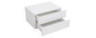 MAX White 2 Drawer Modern White Storage Cabinet