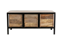 Metal and wood chest of 3 drawers - ATELIER