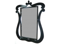 Mirror / looking glass Louisa - black
