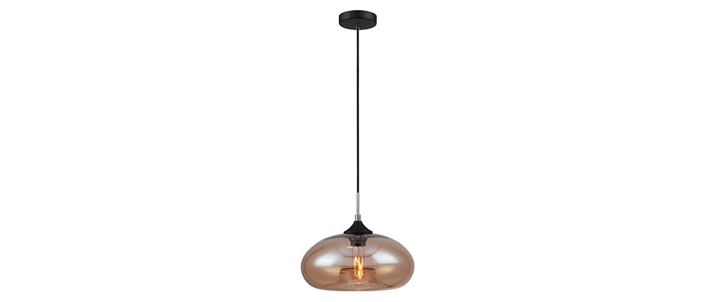MISTIC smoked blown glass pendant lamp