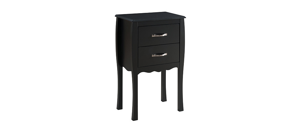 Modern 2 drawer laquered black console table MARGOT
