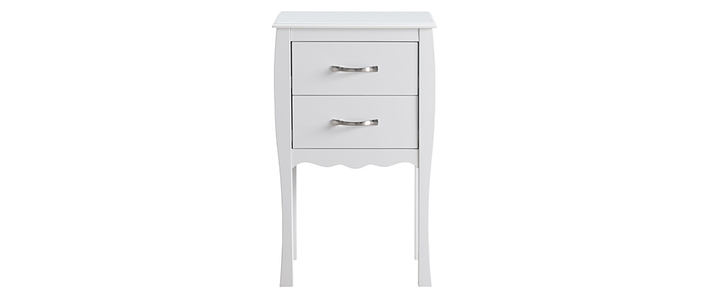 Modern 2 drawer laquered white console table MARGOT