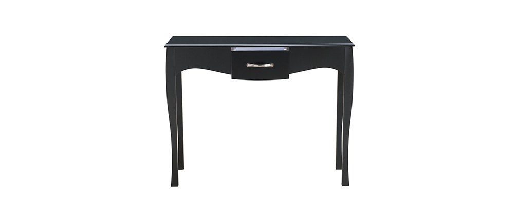 Modern baroque black laquered console table MARGOT