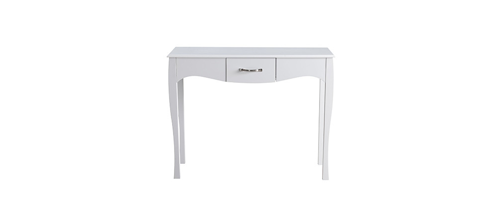 Modern baroque white laquered console table MARGOT
