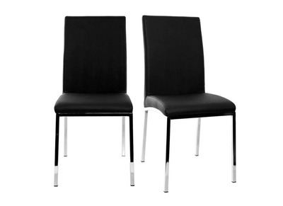 Modern Black Polyurethane Chairs SIMEA (set of 2)