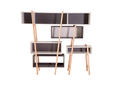 Modern Bookcase WOOD TANG Composition 5