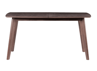 Modern Chocolate Brown and Wood Extending Dining Table LEENA (150x44cm)