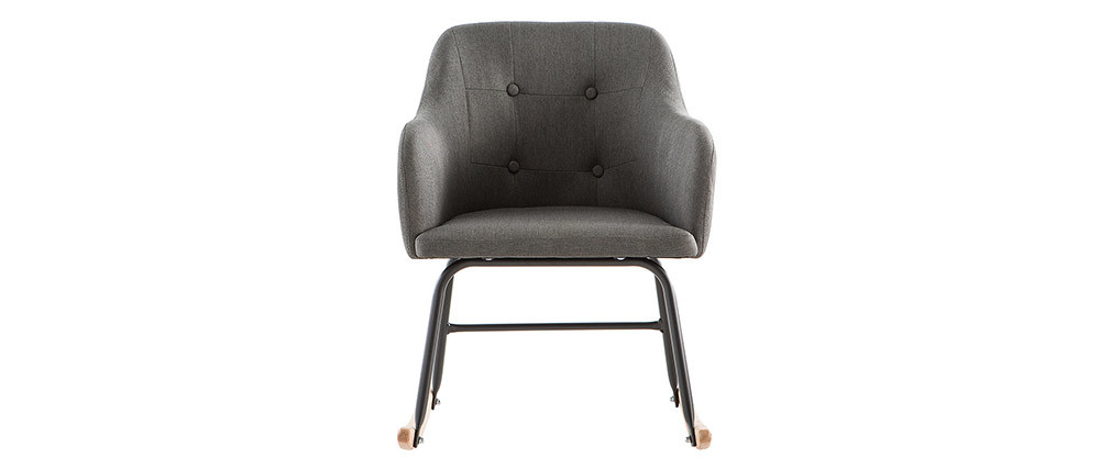 Modern dark grey fabric rocking chair BALTIK
