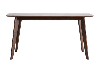 Modern Dining Table 150cm Chocolate Brown LEENA