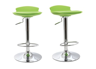 Modern Green Stool Bar NOVA (set of 2)