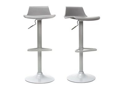 Modern Grey Bar Stool KRONOS (set of 2)