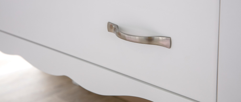 Modern laquered white 2 drawer chest of drawers MARGOT