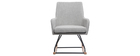Modern light grey fabric rocking chair SHANA