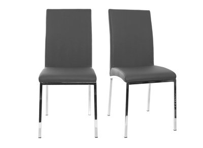 Modern Light Grey Polyurethane Chairs SIMEA (set of 2)
