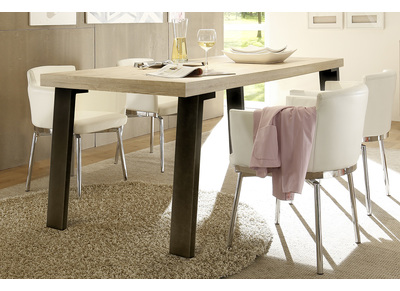 Modern Oak and Metal Dining Table ORIGIN