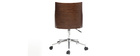 Modern office chair PU black and walnut MAYOL