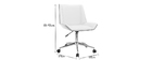 Modern office chair PU white and light wood MELKIOR