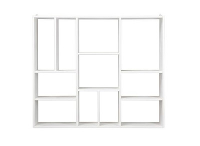 Modern Open Shelving Wood Bookcase CASYM - White