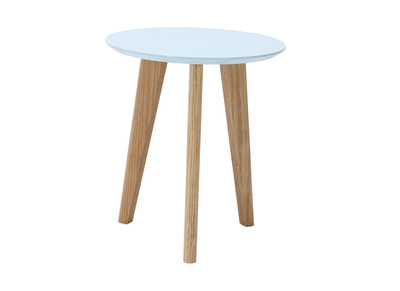 Modern Pastel Blue Round Coffee Table (40 cm) BELAK