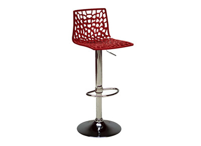 Modern Red Bar Stool ATRAX
