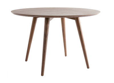 Modern Round Dining Table LIVIA - Walnut