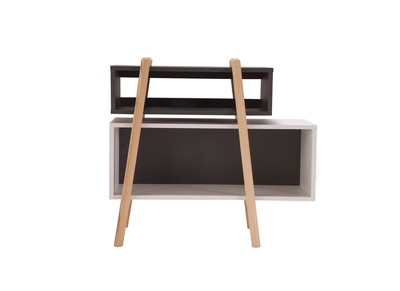 Modern Shelving Unit WOOD TANG Composition 4