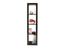Modern violet lacquer shelf unit HAILY