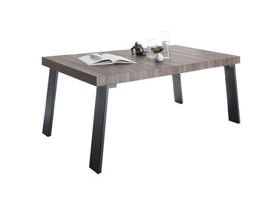 Modern Walnut and Metal Dining Table ORIGIN