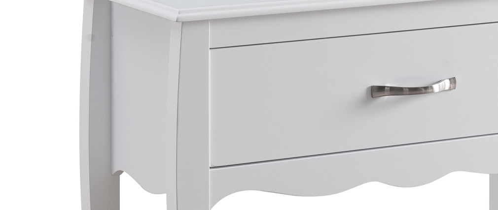Modern white 1 drawer console table MARGOT