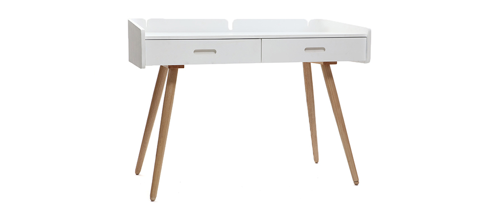 Modern white ash desk NEVIL