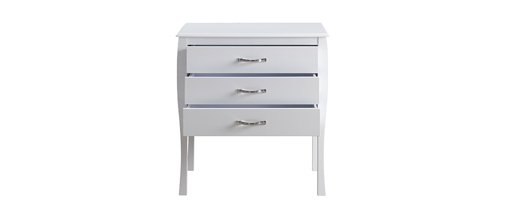 Modern white baroque chest of drawers 3 drawer MARGOT
