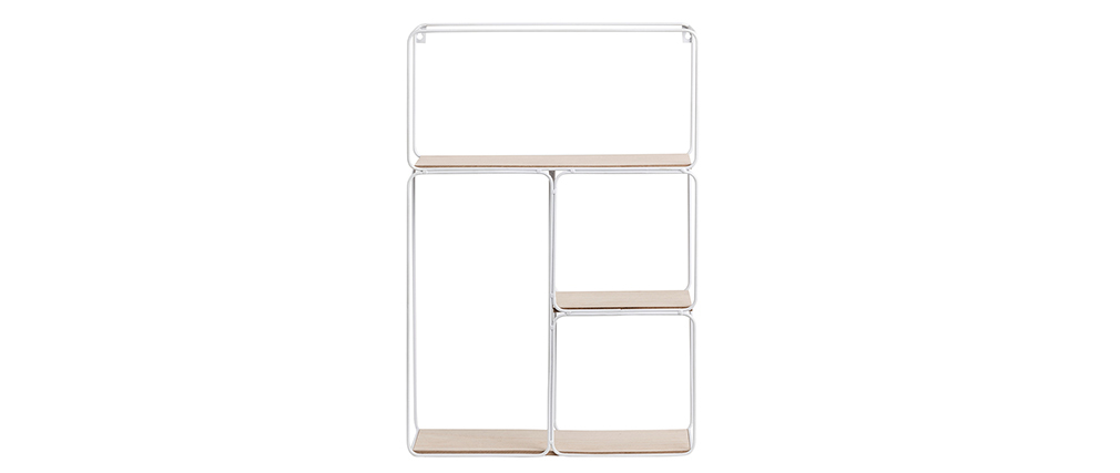 Modern white metal and wall shelves BRICK