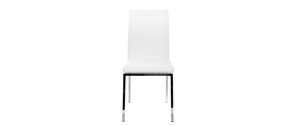 Modern White Polyurethane Chairs SIMEA (set of 2)