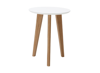 Modern White Round Coffee Table (40 cm) BELAK