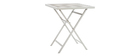 MOJITO folding garden set with 2 chairs and table in white and grey