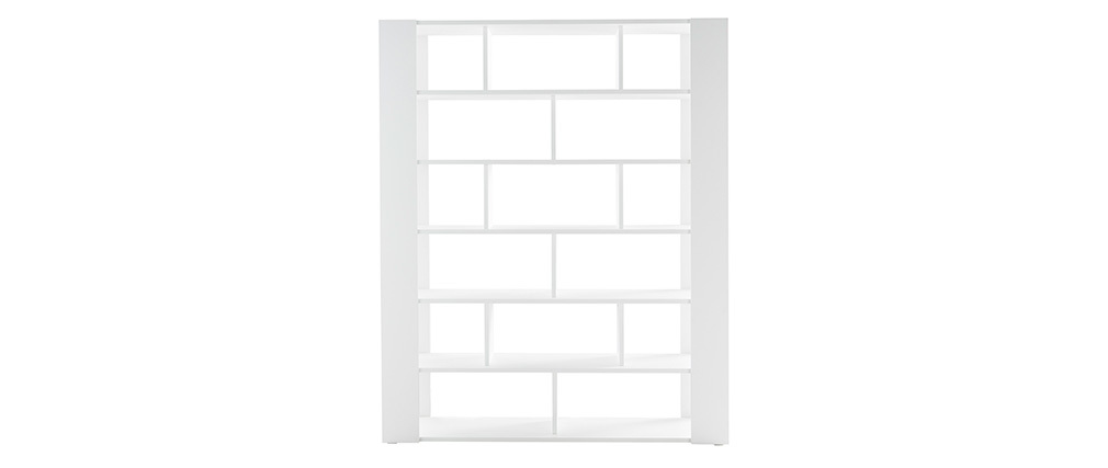 MUSSO designer white bookshelves