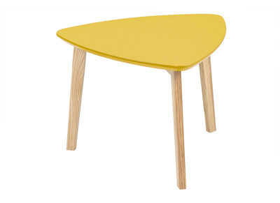 Mustard Yellow Modern Triangular Coffee Table SARA 50cm