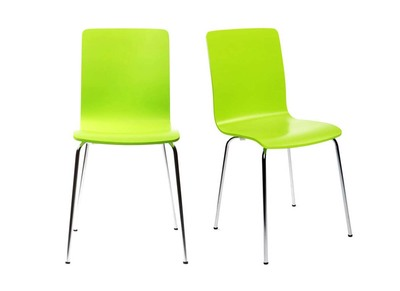NELLY Apple Green Modern Kitchen Chair (set of 2)