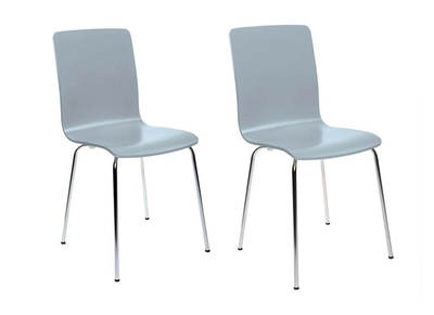 NELLY Grey Modern Kitchen Chair (set of 2)