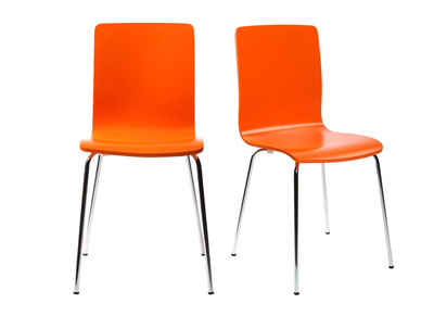 NELLY Orange Modern Kitchen Chair (set of 2)