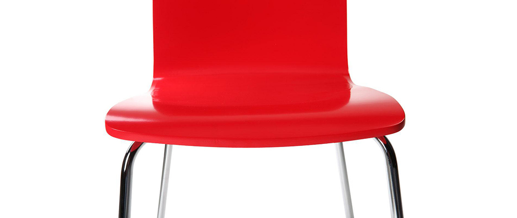 NELLY Red Modern Kitchen Chair (set of 2)