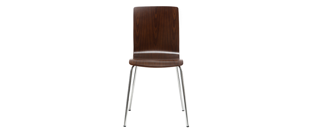 NELLY Walnut Modern Chair (set of 2)