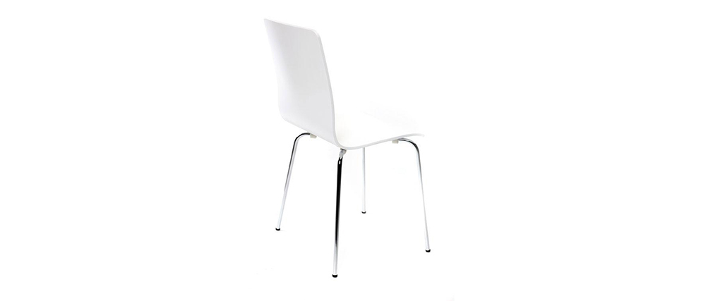 NELLY White Modern Kitchen Chair (set of 2)
