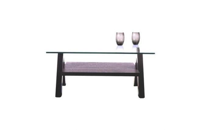New Bailey Modern Square Coffee Table Colour Wenge With Tempered Glass Top Miliboo