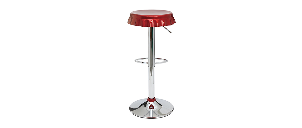 NEW CAPSULE Burgundy Red Bar/Kitchen Stool (set of 2)