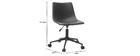 NEW ROCK vintage brown PU office chair
