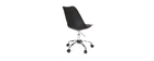 NEW STEEVY Black Chair with Castors