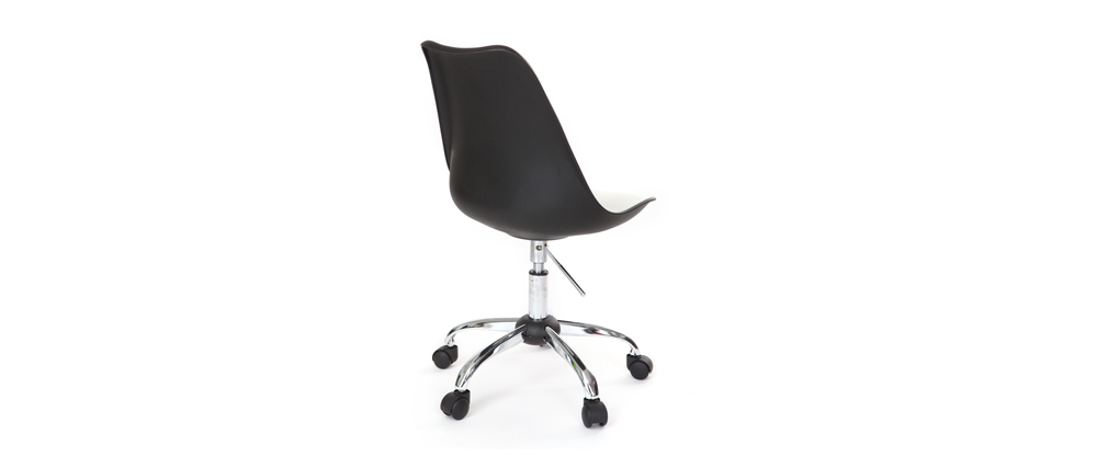 NEW STEEVY Black Modern Chair on Castors